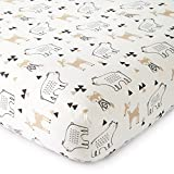 #6: Levtex Baby Bailey Charcoal and White Collection Print Fitted Crib Sheet