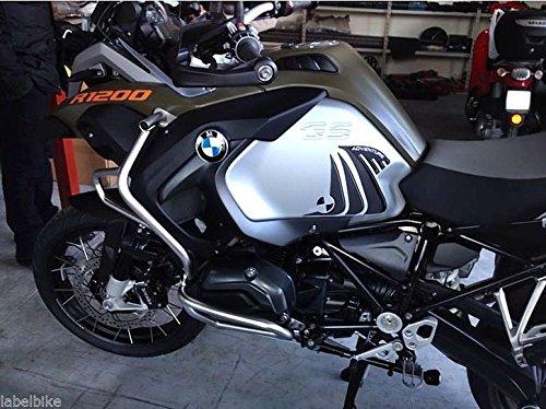 ADESIVI 3D PROTEZIONI LATERALI compatibile per MOTO BMW R1200 GS ADVENTURE 2014-19