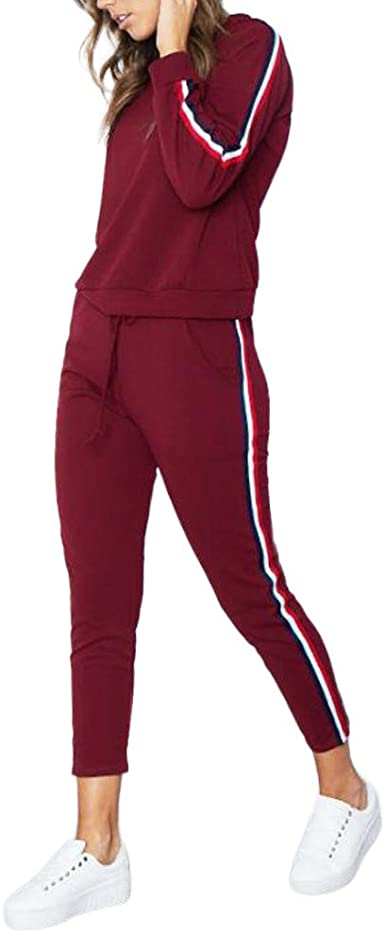 Sudadera Con Capucha Pantalones Largo Conjunto Chandal Deportivo Para Mujer 2 Piezas Pullover Chaqueta Para Yoga Deporte Fannyfuny Amazon Es Ropa Y Accesorios