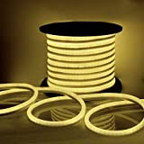 LED Neon Rope Light Flex Tube Sign Decorative Home Indoor Outdoor (Warm White, 150)