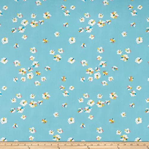 Art Gallery Fabrics Art Gallery Sun Kissed Hazy Daisies Sky Fabric, Blue, Fabric by the Yard