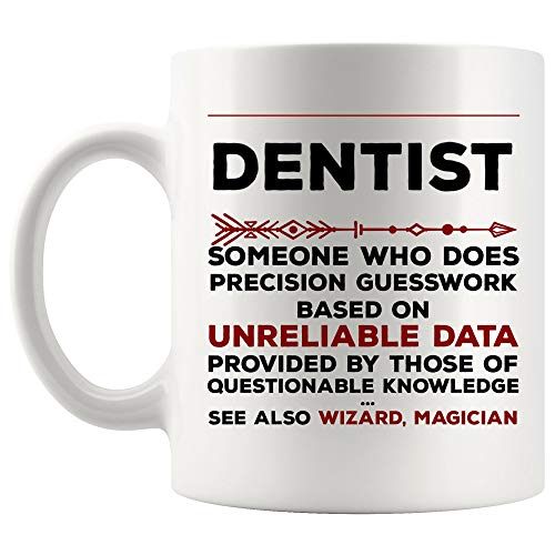 Definition Meaning Dentist Mug Best Oral Surgeon Coffee Cup Gift Precision Gesswork Base On Unreliable Data | Funny Future Doctor Graduation World Gift Mom Dad Most Awesome