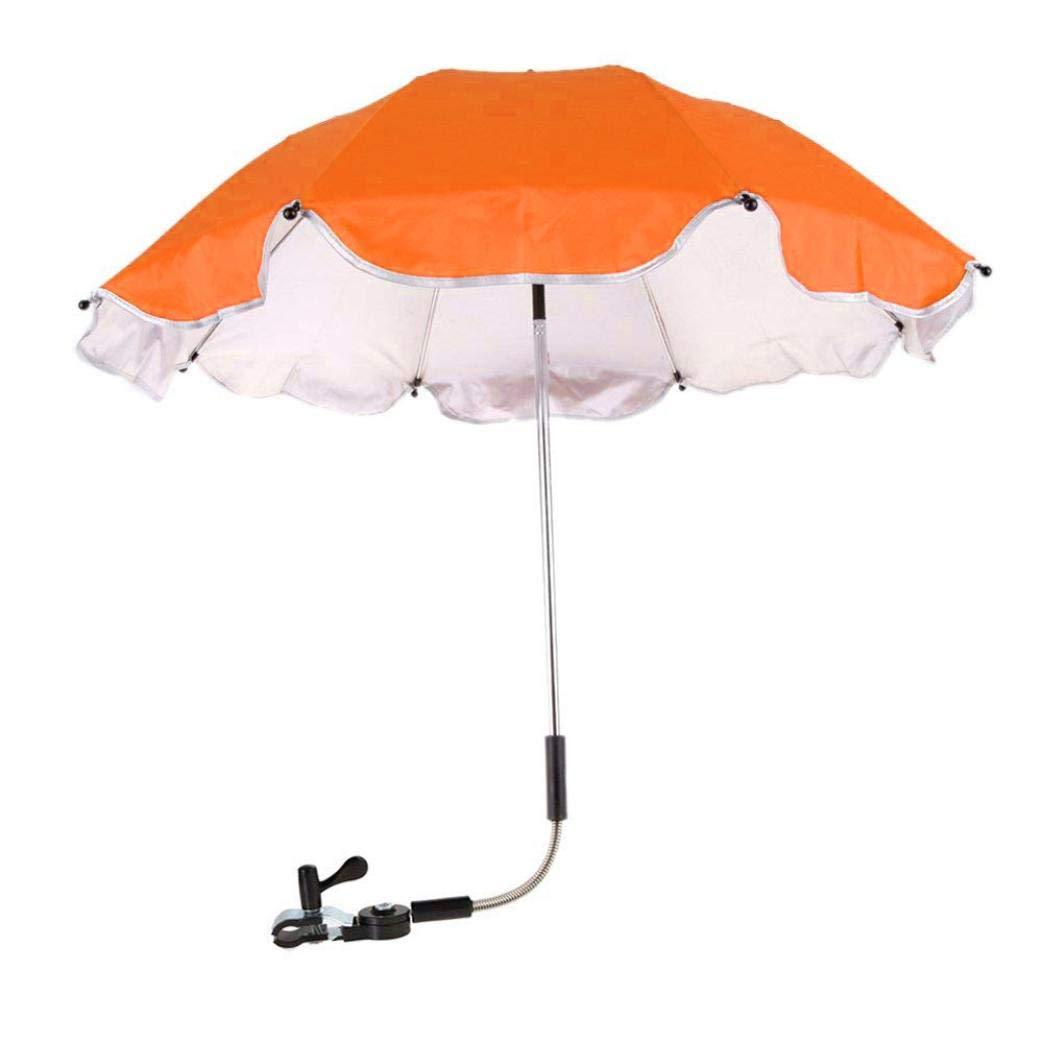 EnjoCho Baby Umbrella,Baby Stroller Cover Parasol For Sun Rain Protection UV Rays Outdoor Umbrella 2018 New Creative (Orange)