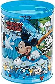 Apontador Com Deposito Mickey 1 Furo - Pote com 36 Molin