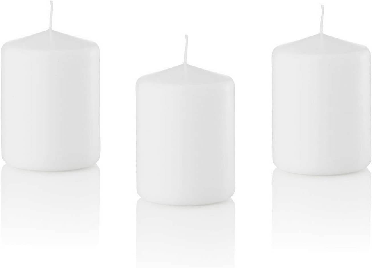 White Spaas Pillar Candle Europe Made Various Sizes Small Extra Large