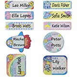 Daycare Baby Bottle Labels Waterproof Self-Laminating Name Tag Stickers, 112Pcs (4 Pack)
