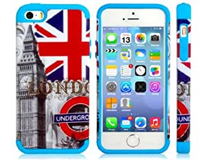 TPU & Silicone Big Ben Print Case for iPhone 5S/5
