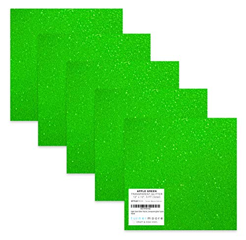 - Turner Moore Edition, Apple Green Glitter Vinyl Adhesive - 12