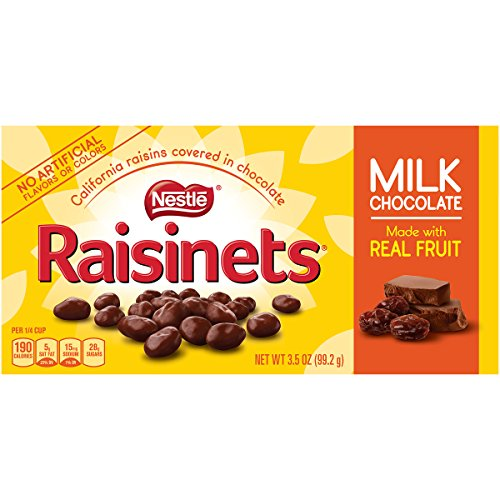 Raisinets Sun-Ripened Plump Juicy California Raisins Tucked in Rich Creamy Milk Chocolate, 15 Count (Chocolate Covered Raisins Raisinets)