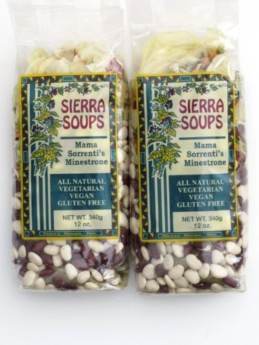All Natural Gluten Free Vegetarian Vegan Mama Sorrenti's Minestrone Mix Pack of 2 340 g 12 oz each (Mix Vegetarian Soup)