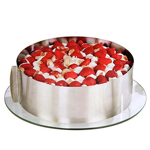 vinmax Adjustable Cake Mould Kit Mousse Mould Cake Setting Ring DIY Bakeware Tools Cake Tools Stainless Steel for Bakery, Cake Store, Home