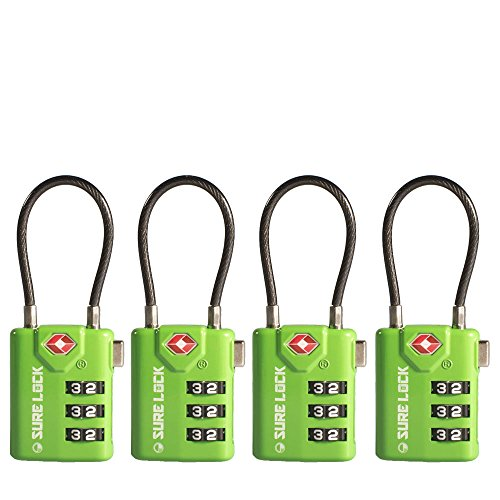 TSA Compatible Travel Luggage Locks, Inspection Indicator, Easy Read Dials- 1, 2...