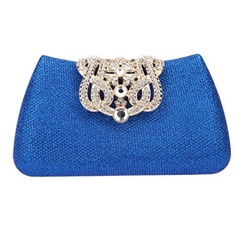 Fawziya Bling Glitter Purse For Girls Crown Box Clutch Evening - Frames Buy India Online