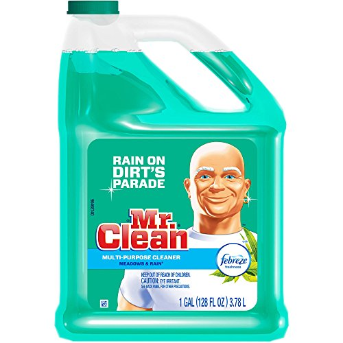Mr. Clean Meadows & Rain Household Multi-Surface Cleaner with Febreze, 128 fl oz