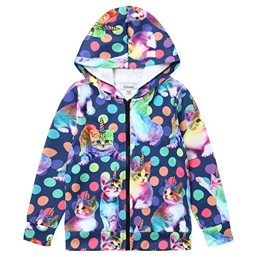 (Liliane Unicorn Jackets for Girls Girls' Fleece Jackets)
