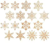 "Gold Snowflakes Item # 517/E Waterslide Ceramic Decals By The Sheet (1/2"" dia 155 pcs)"