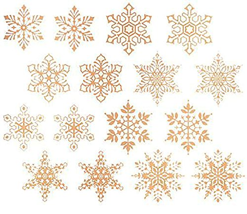 Gold Snowflakes Item # 517/E Waterslide Ceramic Decals By The Sheet (1/2