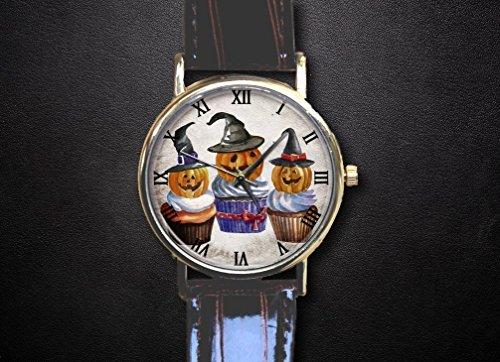 Halloween ice cream pumpkin monster Witches watch Custom watch gift watch decorative watch Bridesmaid Watch neutral watch unique watch Wedding -