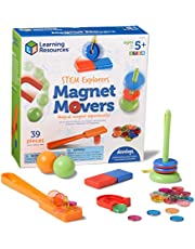 Learning Resources LER9295 STEM Explorers Magnet Movers Game (39 Piece),Multi