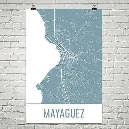 graphic regarding Printable Map of Puerto Rico referred to as : Mayaguez Map, Mayaguez Artwork, Mayaguez Print