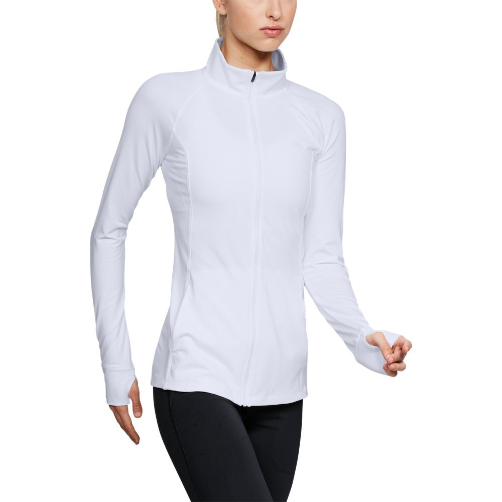 Under Armour Women's Zinger Full Zip, White (100)/White, Small by Under Armour