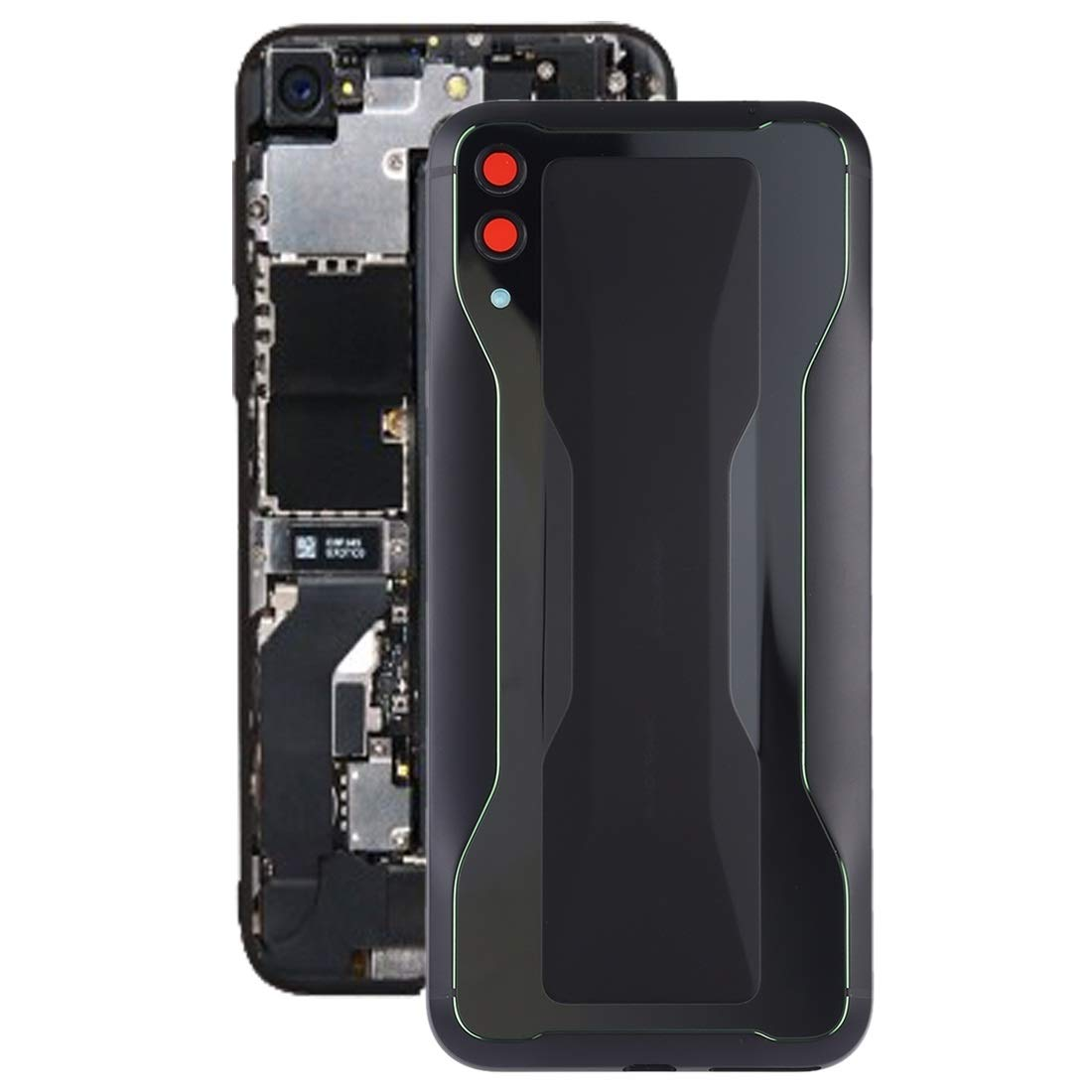 YUANSHIHUI Mobile Accessories Battery Back Cover for Xiaomi Black Shark 2(Black) (Color : Black) by YUANSHIHUI