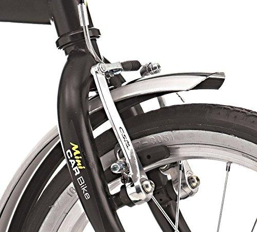 Bicicleta plegable Car Bike de acero 16 pulgadas negro: Amazon.es: Deportes y aire libre
