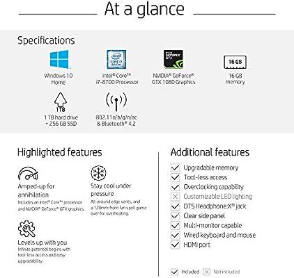 OMEN by HP Gaming Desktop Computer, Intel Core i7-8700 Processor