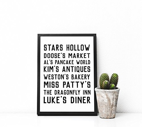 gilmore girls stars hollow poster