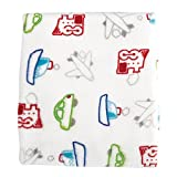 Stephan Baby Transportation Collection Snuggle Fleece Crib Blanket, Airplanes, Boats, Cars and Trains