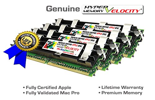 Certified HyperVelocity 16GB Mac Pro 4X 4GB DDR2-800 ECC FB-DIMM Memory Kit for MacPro3,1 MA970LL/A A1186 240 pin 256x72 1.8v PC2-6400 800MHz Fully Buffered 2008 2.8 3.0 3.2Ghz