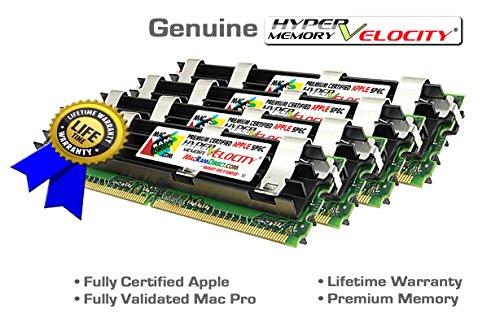 (Certified HyperVelocity 16GB Mac Pro 4X 4GB DDR2-800 ECC FB-DIMM Memory Kit for MacPro3,1 MA970LL/A A1186 240 pin 256x72 1.8v PC2-6400 800MHz Fully Buffered 2008 2.8 3.0 3.2Ghz)