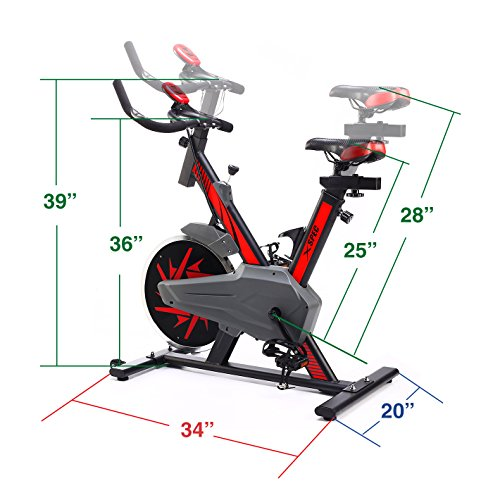 Xspec Pro Stationary Upright Exercise Bike Cycling Bike w/ Heart Pulse Sensors