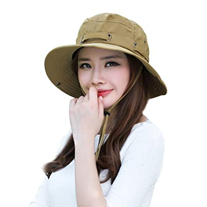 ITODA Summer Sun Hat UPF 50+ Foldable Beach Sport Bucket Wide Brim with  Snaps 22214794413e