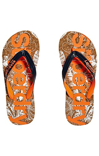 Eclipse Nd2 Chanclas Azul Flop Mujer Navy Flip Cork Hibiscus Printed Optic para Superdry xq4a8U