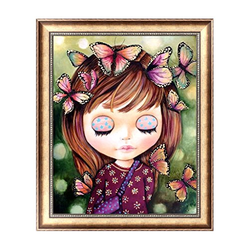 SYlive Butterfly Girl 5D Diamond Embroidery DIY Painting Cross Stitch Home Decor Craft