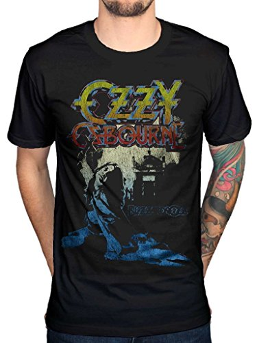 AWDIP Men's Official Ozzy Osbourne Blizzard Of Ozz T-Shirt Heavy Metal Music Rock (Ozzy Osbourne Brille)