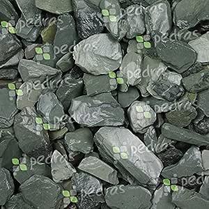 Benazzo - Piedras de mármol Verde 30/50 - Saco de 25 kg - Piedras Decorativas para jardín: Amazon.es: Jardín
