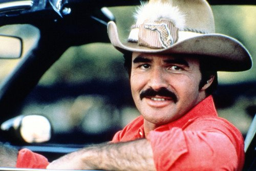 Burt Reynolds Smokey and The Bandit Smiling In Convertible Car Cool 24X36 Poster Silverscreen