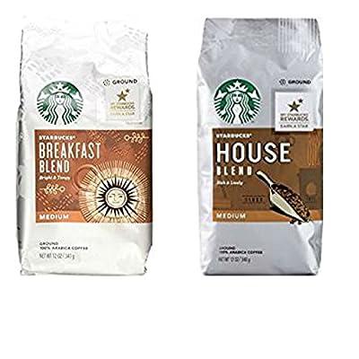 Starbucks Medium Roast Ground Coffee Variety Pack. Starbucks House Blend and Starbucks Breakfast Blend. Convenient One-Stop Shopping. Easy to Source Ultra Popular Starbucks Blends. Coffee Paradise!