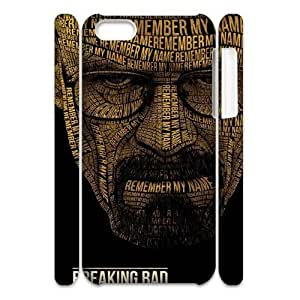 wugdiy Customized Hard Back 3D Case Cover for iPhone 5C with Unique Design Breaking Bad