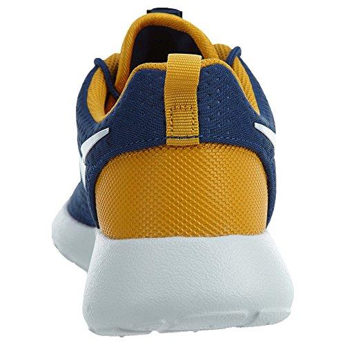 Mens Nike Roshe One Sneaker (10.5, Blu Costa / Puro Platino-foglia Doro)