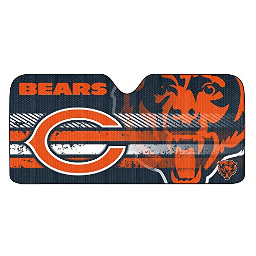 NFL Chicago Bears Universal Auto Shade, Orange (Accessories Bears Chicago)