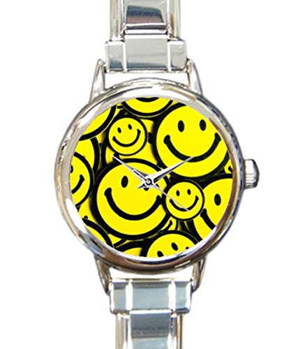 Italian Yellow Wrist Watch - Coolstuffs Smiley Faces Yellow Women Ladies Italian Charm Bracelet Wrist Watch Analog Quartz Classic Watch