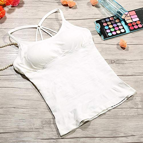 HeroStore Women Sexy Camisole Tanks Slim Casual Sleeveless Cross Straps Tops Lady's Undershirt Padded Breathable Shoulder Vest Female