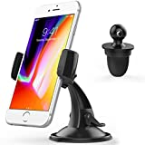 Car Holder,Cuxwill No Blocking 3 in 1 Windshield Dashboard Air Vent Mount for 3.5-6 inches Cell Phones …