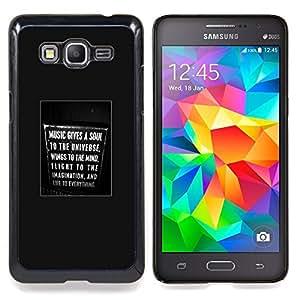 /Skull Market/ - Soul Music Sign Text Poster Singing For Samsung Galaxy Grand Prime G530H G5308 - Mano cubierta de la caja pintada de encargo de lujo -