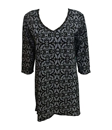 Fresh Produce Island Batik Santa Barbara Pullover Top, Black, - Island Santa Fashion