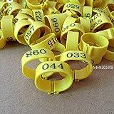 FidgetGear (Yellow) 001-100 Numbered Chicken Leg Bands 18mm Chicken Rings