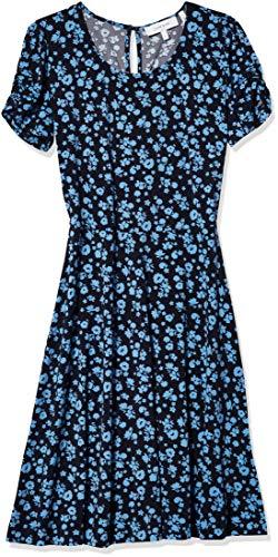 Lark & Ro Women's Standard Gathered Short Sleeve Crew Neck Shift Dress